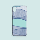 Blue Waves mobile phone case