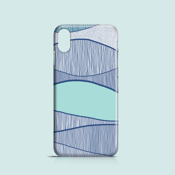 Blue Waves iPhone case, Samsung Galaxy case
