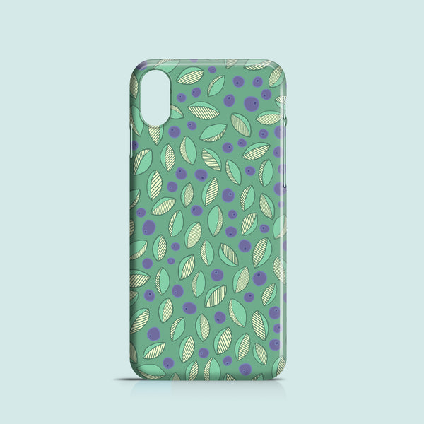 Blueberries iPhone XS cover