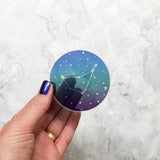 Clear Vinyl Zodiac Sticker