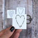 celestial temporary heart tattoo