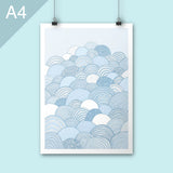 Clouds A4 Art print