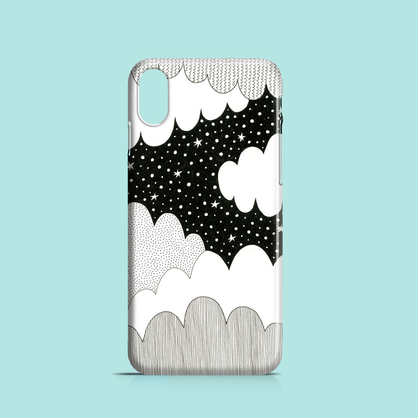 cloudy night iPhone XR polycarbonate cover