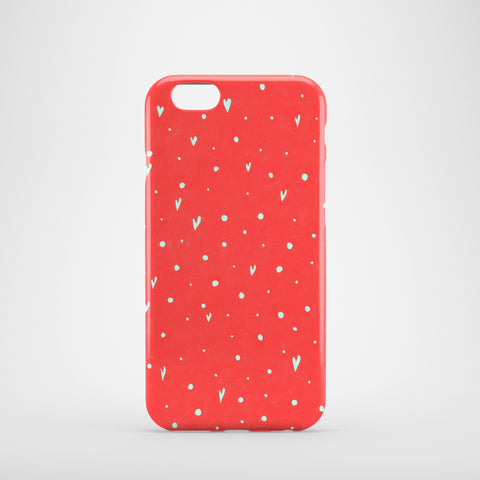 Coral Hearts mobile phone case