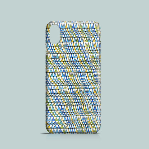 Geometric pattern iPhone X case made of polycarbonate
