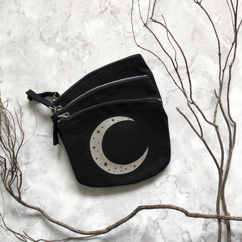 Crescent Moon Zip Pouch