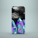 Night sky with crystals iPhone 5S cover