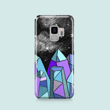 Stars and crystals Samsung S9 hard plastic case