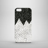 mountain inspired abstract drawing iPhone 5 case