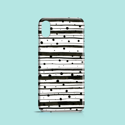 Dots and lines iPhone X polycarbonate case