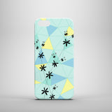 Florals and Shapes iPhone case, Samsung Galaxy case