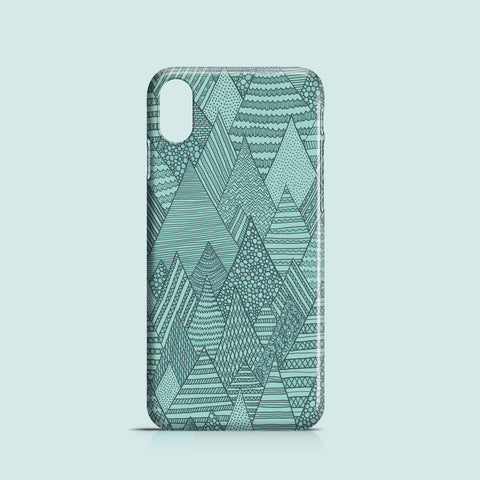 illustrated forest pattern iPhone X case