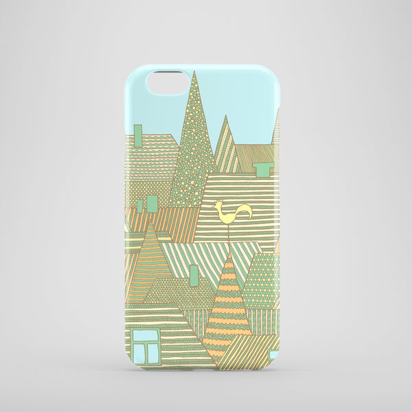 Golden Rooftops mobile phone case