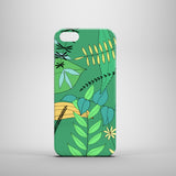 green leaves drawing hard shell iPhone SE case