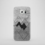 grey and black mountain illustration Samsung S7 case