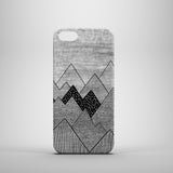 monochrome mountain drawing iPhone 5s case