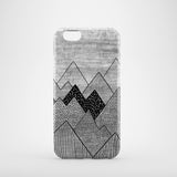 graphic mountain drawing iPhone 8 case