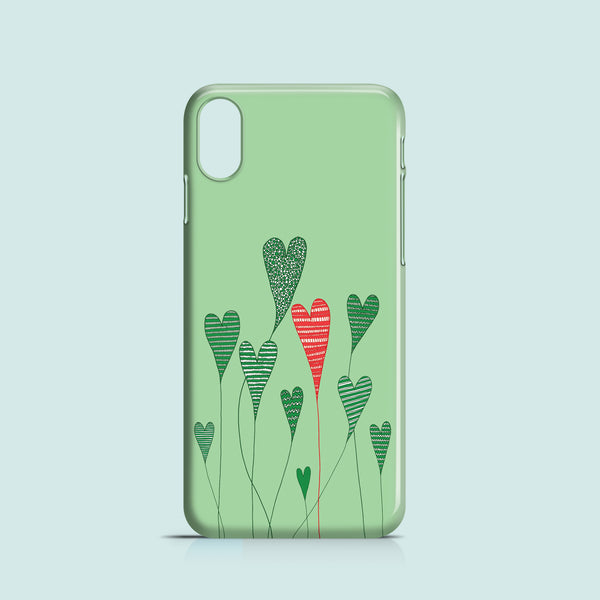 heart plants iPhone X polycarbonate case