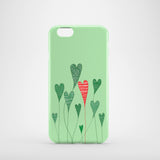 green growing hearts iPhone 8 case