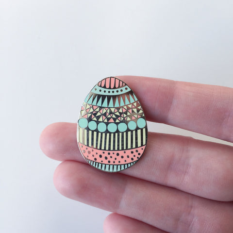 Easter Egg enamel pin, Lapel pin