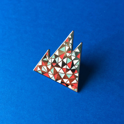 Mountain enamel pin, Lapel pin