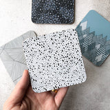 Black and white rain pattern melamine coaster