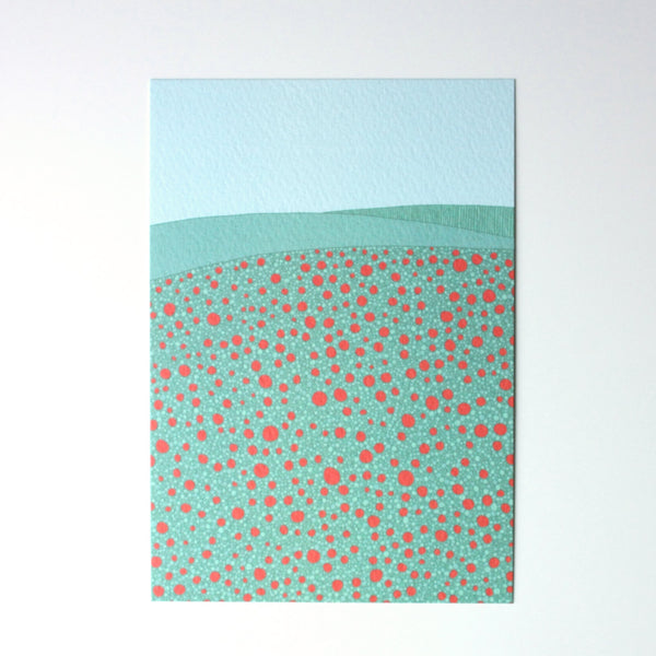 Poppy field postcard print