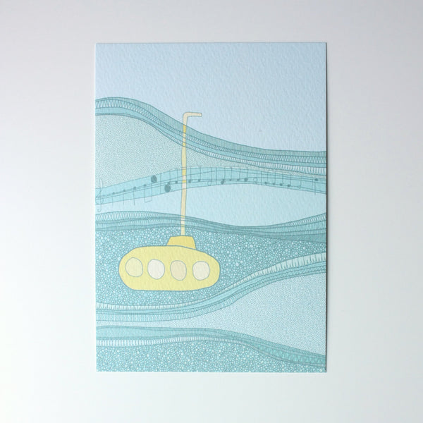 Yellow Submarine A6 Print