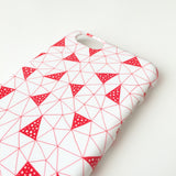 Red Triangles mobile phone case