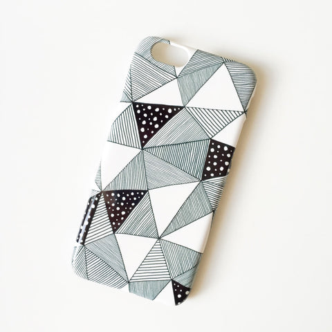 Pattern triangles iPhone 6 polycarbonate case