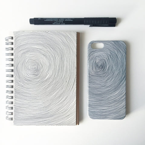 Tree trunk lines iPhone 5 case and sketchbook