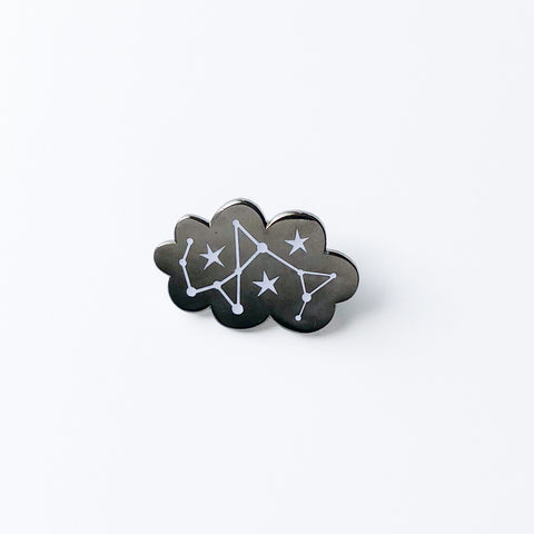 Glow in the Dark Cloud enamel pin, Lapel pin