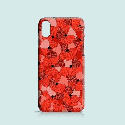 Red Poppies iPhone case, Samsung Galaxy case