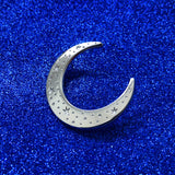 Celestial moon silver pin badge