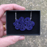 Purple cloud necklace gift boxed