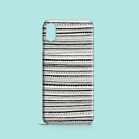 Drawn Lace pattern iPhone XR case