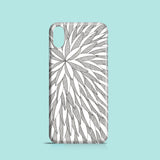 Monochrome leaves pattern iPhone X cover