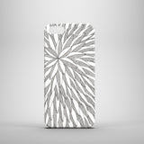 Monochrome line drawing iPhone 5 case depicting leaves
