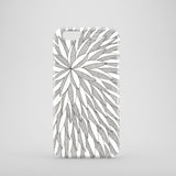 iPhone 8 case with monochrome leaf pattern