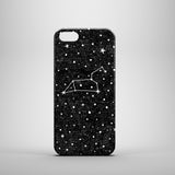 Black iPhone 5 case with Leo star sign and stars