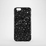 black iPhone 8 case with Leo star sign