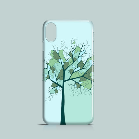 Lonely tree green iPhone X case