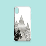 Mountain inspired monochrome iPhone X cover