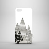 Black and white mountain iPhone 5S case