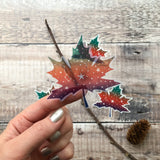 Clear Vinyl Maple Leaf Sticker