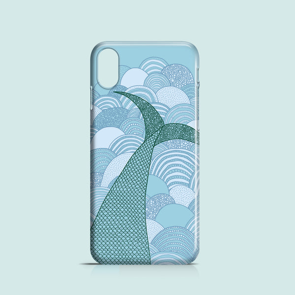 Mermaid tail iPhone X case