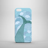 Mermaid tail drawing iPhone SE cover
