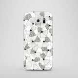 Poppies in black and white Samsung Galaxy phone case