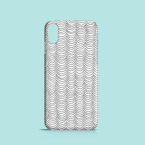 Line waves drawing iPhone X case