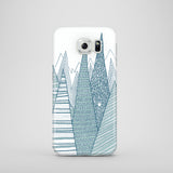 Abstract mountain drawing Samsung Galaxy S7 cover